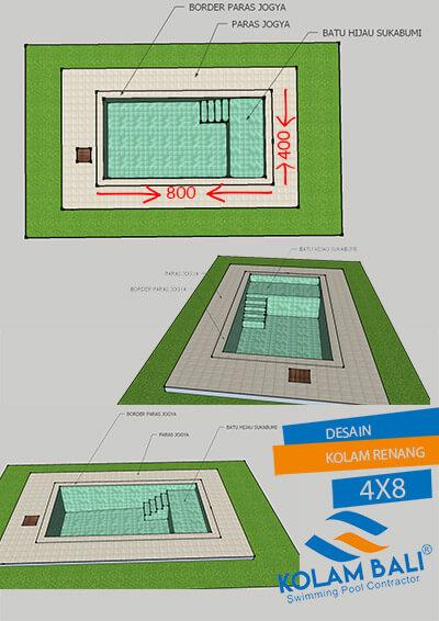 desain kolam renang ukuran 4 x 8