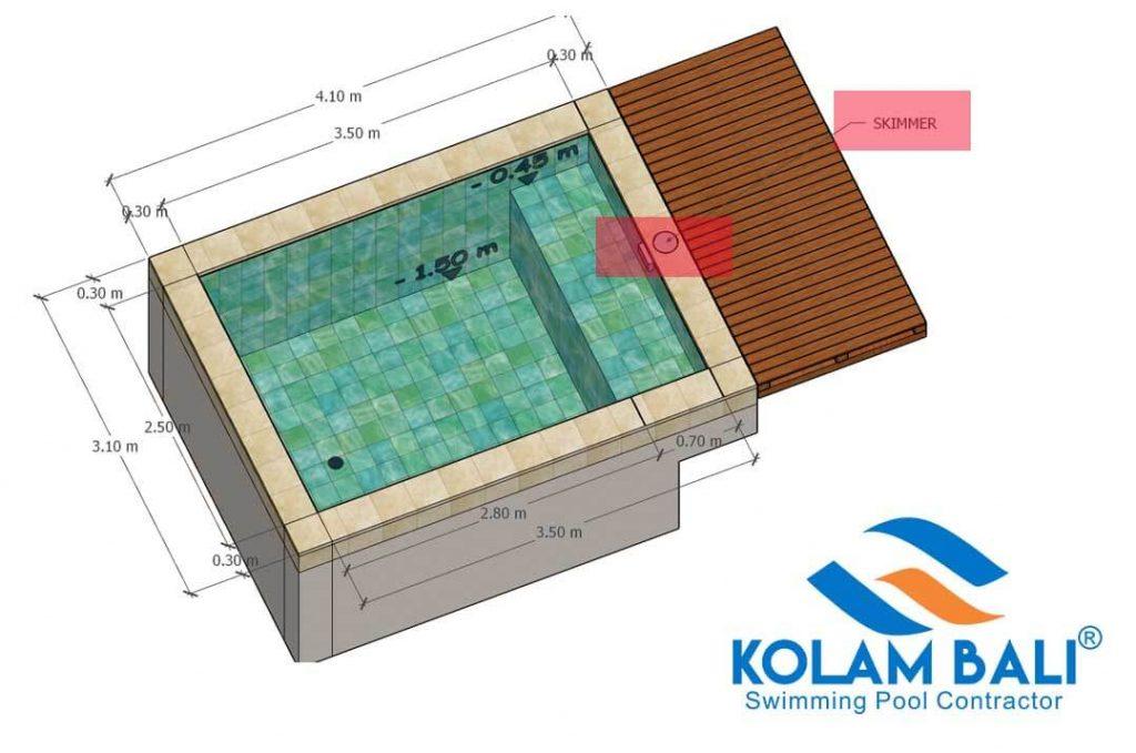 sistem kolam renang skimer