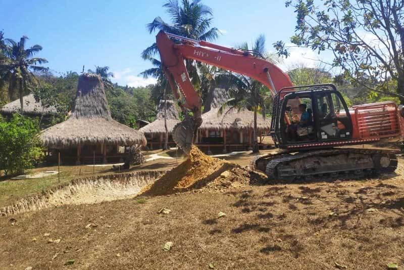 rental excavator di bali, linaj aya rental