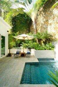 50+ contoh gambar, desain & ukuran kolam renang minimalis